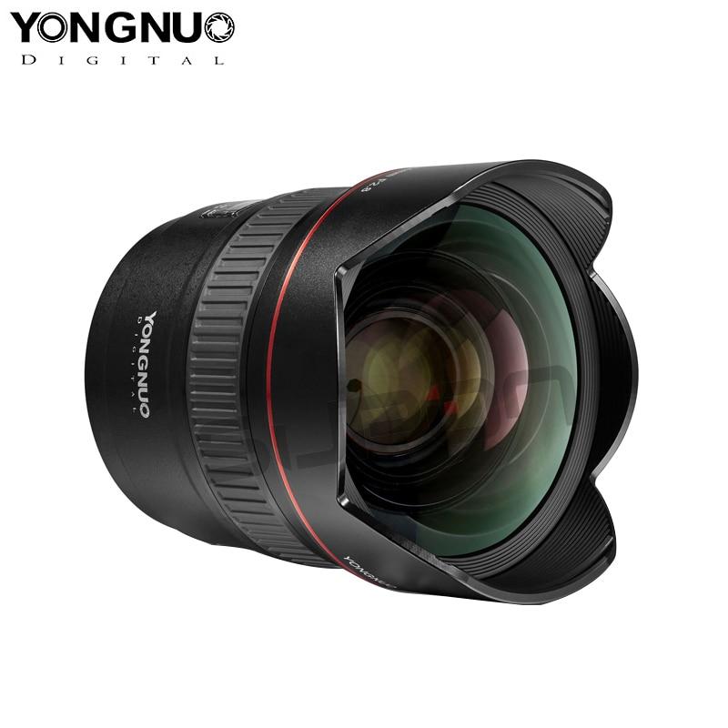 En Stock! Objectif Yongnuo YN14mm F2.8 AF MF autofocus Ultra-large objectif Anglr Prime pour appareil photo Canon 5D Mark III IV 6D 700D 80D 70D