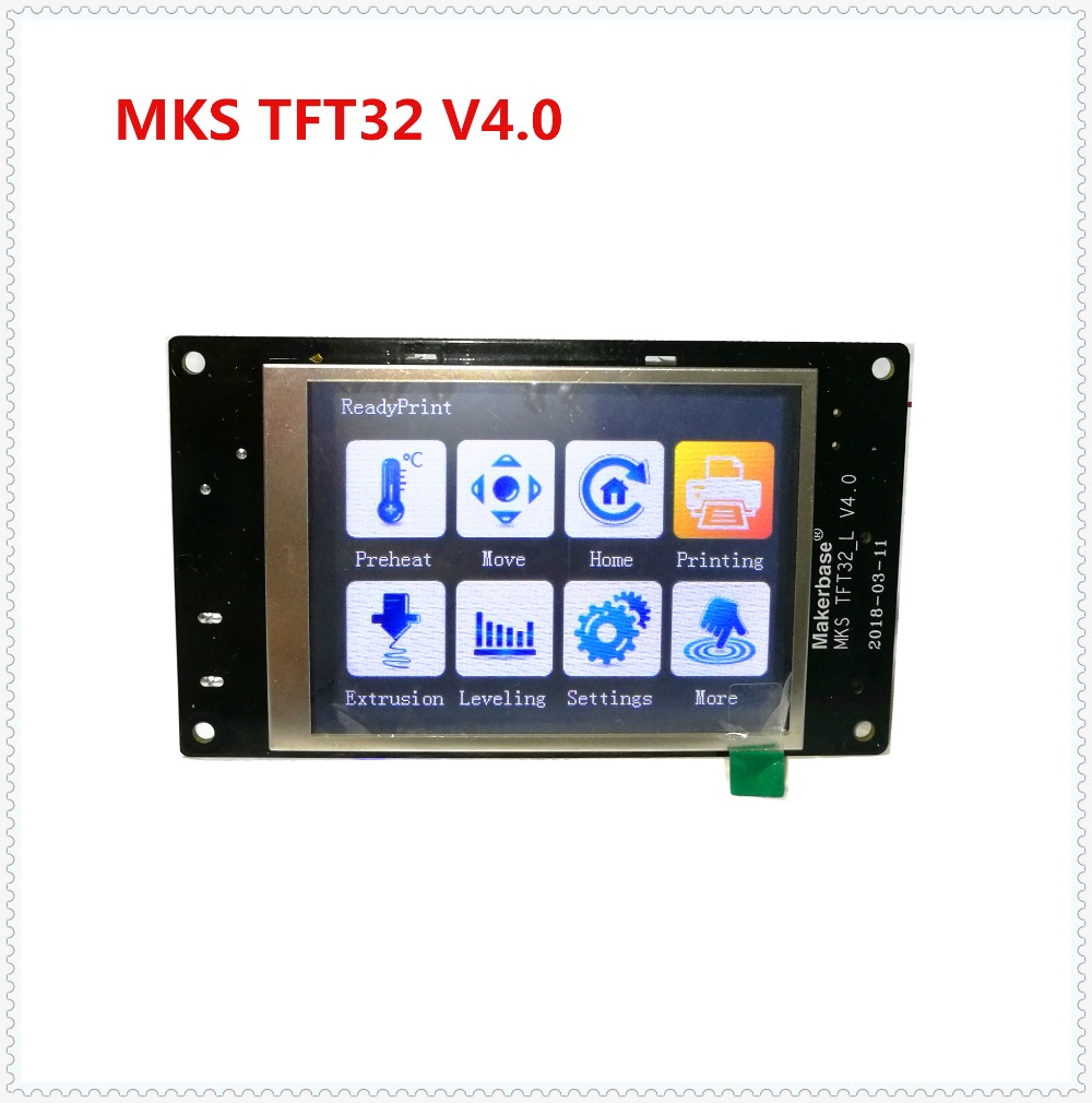 MKS TFT32 V4.0 touch screen splash lcds smart controller touching TFT3.2 display RepRap TFT monitor creen lcd for 3D Printer geeetech reprap lcd12864 smart controller display for 3d printers white