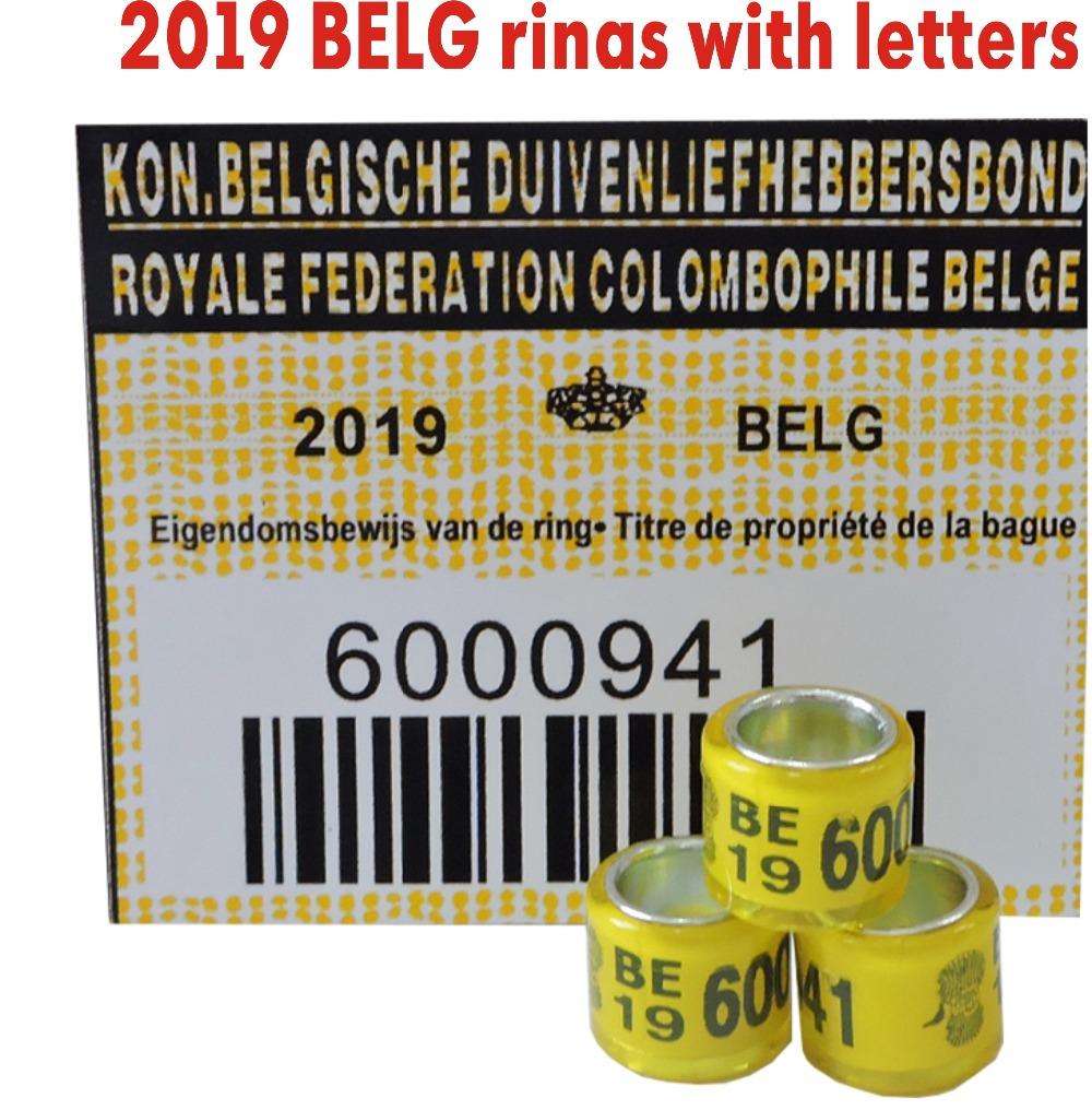 2019 BELG Pigeon Rings With Cards Bird RING With Letters Cards 8mm(China)