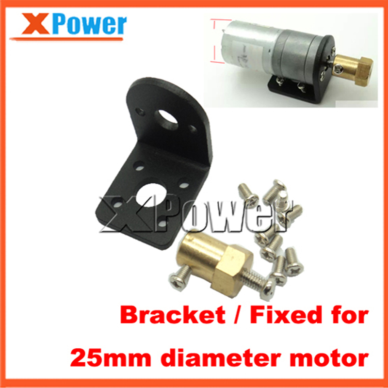 Wholesale XPower 370 25mm Diameter Gear Motor Bracket With Screw Shaft Coupling For DIY Car Use Fixed Mounting Bracket wholesale bringsmart 37mm diameter gear motor mounting bracket with screw shaft coupling for diy car use fixed motor bracket