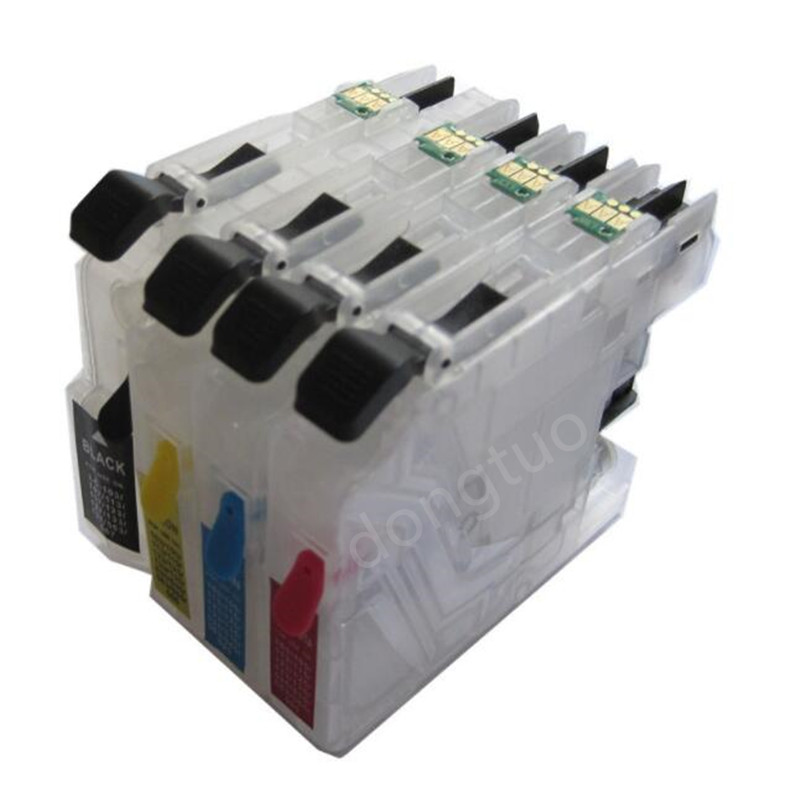 Ink cartridge LC123 LC127 LC125 for Brother DCP-J4110DW J132W J152W J552DW J752DW printer with auto reset chip empty