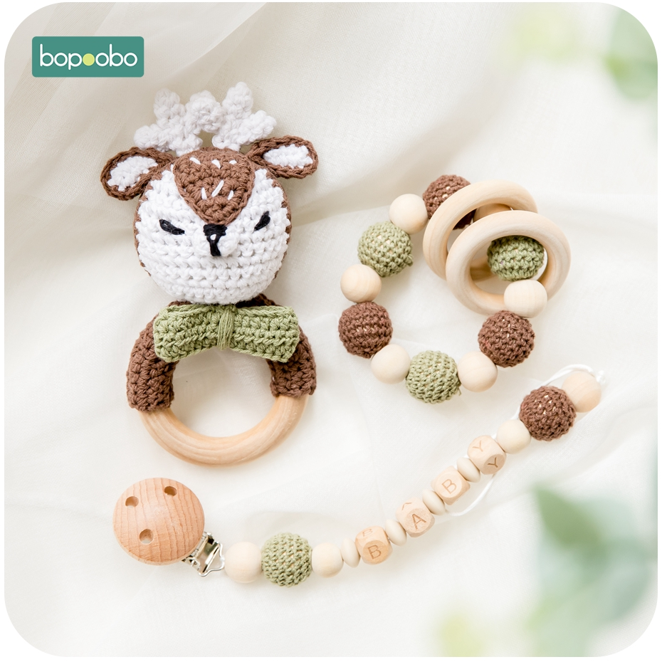 Personalized Name Baby Pacifier Clips,BPA Free Silicone Owl Dummy Clip,Crochet Pacifier Chain Holder,Sensory Toy Baby Teether Shower Gift
