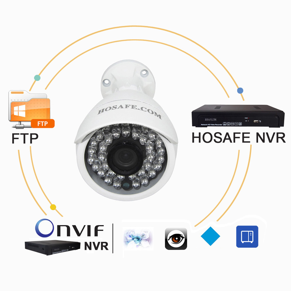 HOSAFE POE IP Camera Outdoor 1080P with Audio , Home Security