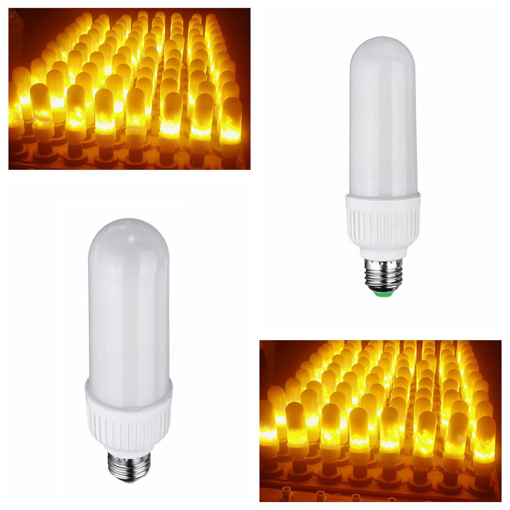 Купить с кэшбэком E27 Flame Flicker Led Bulb Dynamic Flame Effect E26 Edison Bulb Lamp 3.4W Outdoor Garden Courtyard Dance Flame Amostphere Light