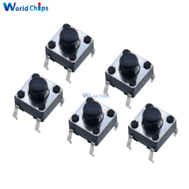 Electronic Components & Supplies Active Components Romantic 100 Pcs Tactile Switch Tact 6 X 6 X 5 Mm 4-pin Dip-micros Feet Of Vertical Copper Power Switch Button