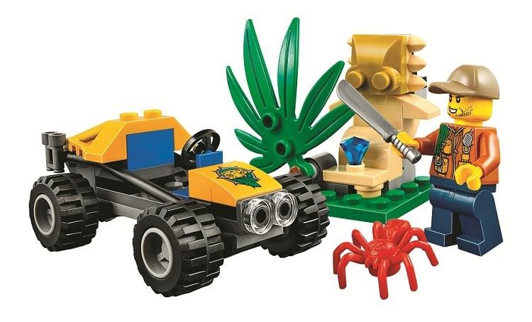 BELA City Jungle Explorers Jungle Buggy Building Blocks Sets Bricks Classic Model Kids Toys Marvel Compatible Legoe kazi 608pcs pirates armada flagship building blocks brinquedos caribbean warship sets the black pearl compatible with bricks
