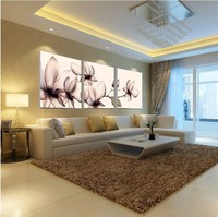 Oil restaurant Painting Canvas Art Cuadros Transparent Flowers 3 Piece Wall Pictures Print modern home paintings (no Frames)