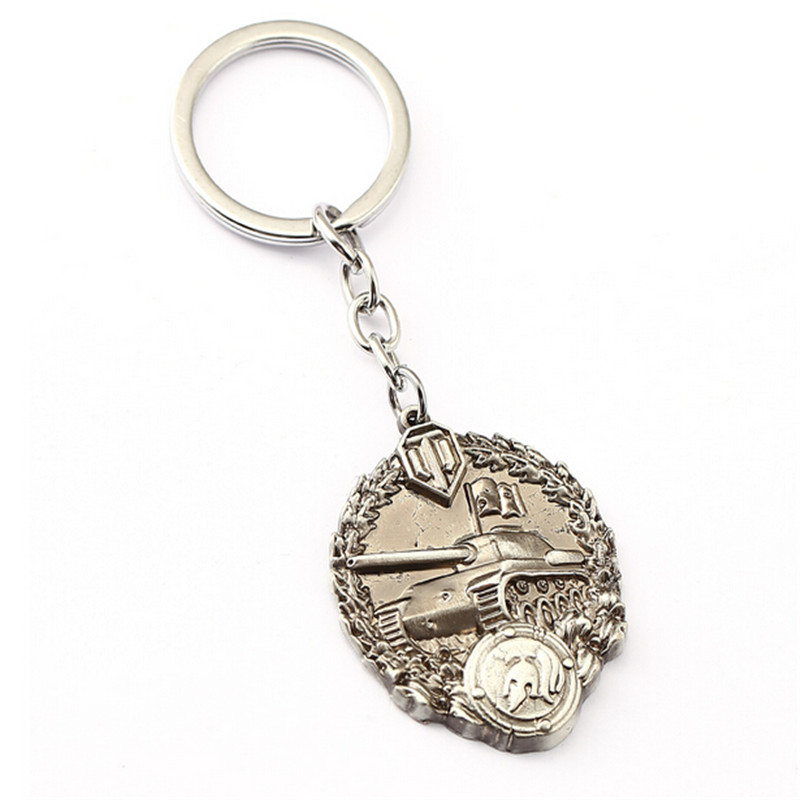 WOT Game World of Tanks Keychain Tanks Key Chain Cool Accessories Jewelry Wholesale Gift For Fans Men Jewelry HSIC11603 image