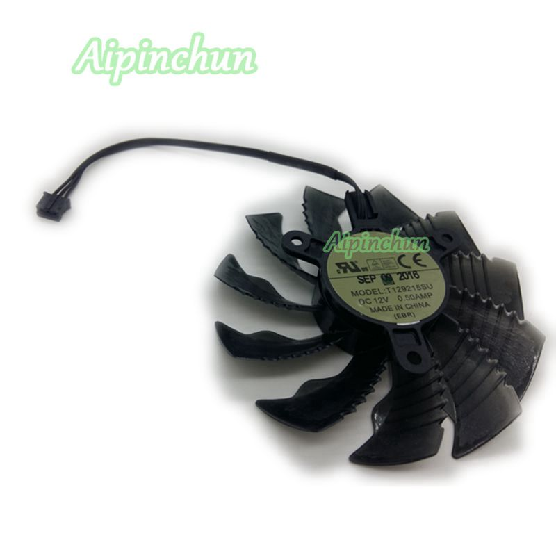 85mm T129215SU DC 12V 0.50AMP 3Pin Cooler Fan For Gigabyte GTX960 970 1050 1060 Graphics Video Card Cooling Fans computer pc vga cooler fans graphics card fan for galaxy gtx960 gtx 960 video card cooling