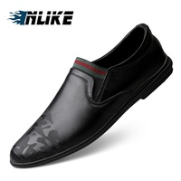 New Fashion Doug Shoes Men's Office Genuine Leather Shoes Male Flat Loafers Luxury Mens Shoes