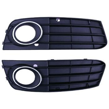 2pcs Bumper Fog Light Lamp Grille Covers Auto Car Fog Light External Tail Fog Lights Cover for Audi B4 and 09-11 Audi A4 B8 grille