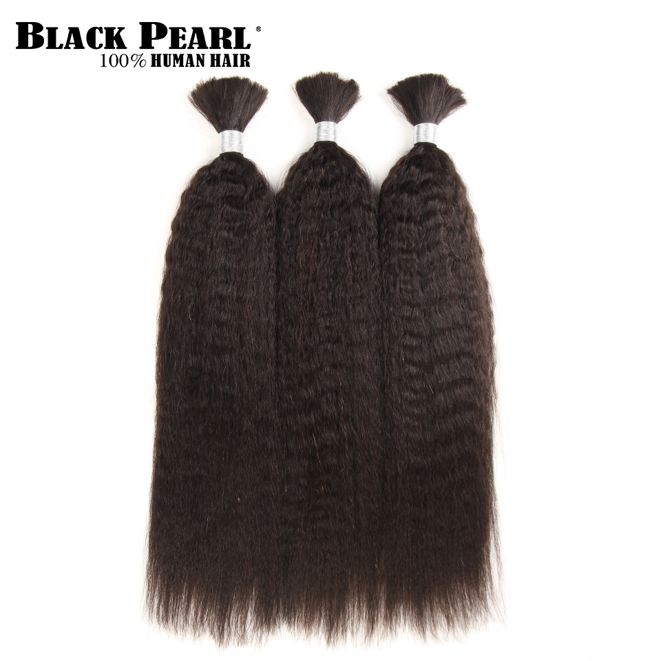 Hair Extensions & Wigs Provided Black Pearl Pre-colored Brazilian Hair Weave Bundles Yaki Striaght Human Hair Bulk 1 Bundle Braiding Hair Extensions Braids Hair