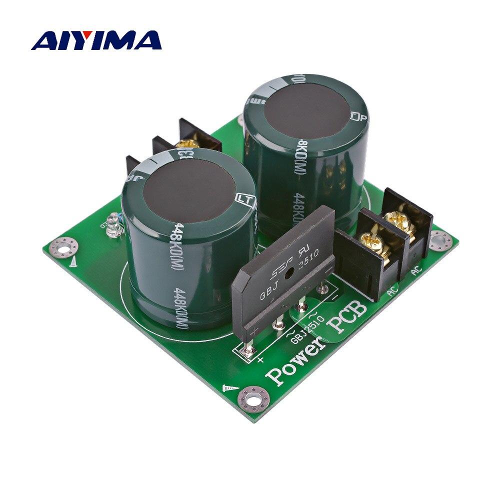 AIYIMA גבוהה כוח מגבר מיישר מסנן קבלים חום מגבר אודיו מיישר אספקת חשמל עבור AMP אודיו DIY 80 v 3300 uf