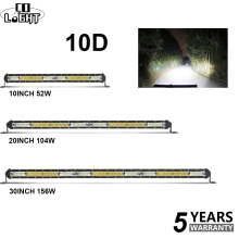 CO LIGHT 52W 104W 156W 10D Super Slim Offroad LED Light Bar Spot Flood Combo Beam Work Fog for Trucks Tractor UAZ ATV