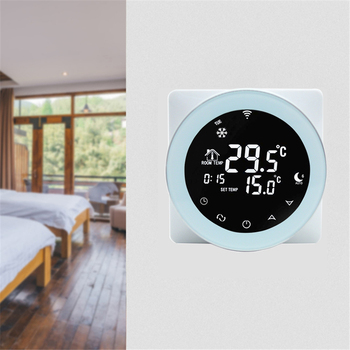 Wifi Thermostat 3A Water Heating Thermostat Voice Control LCD Digital Touch Screen Temperature Controller Alexa /Google Home