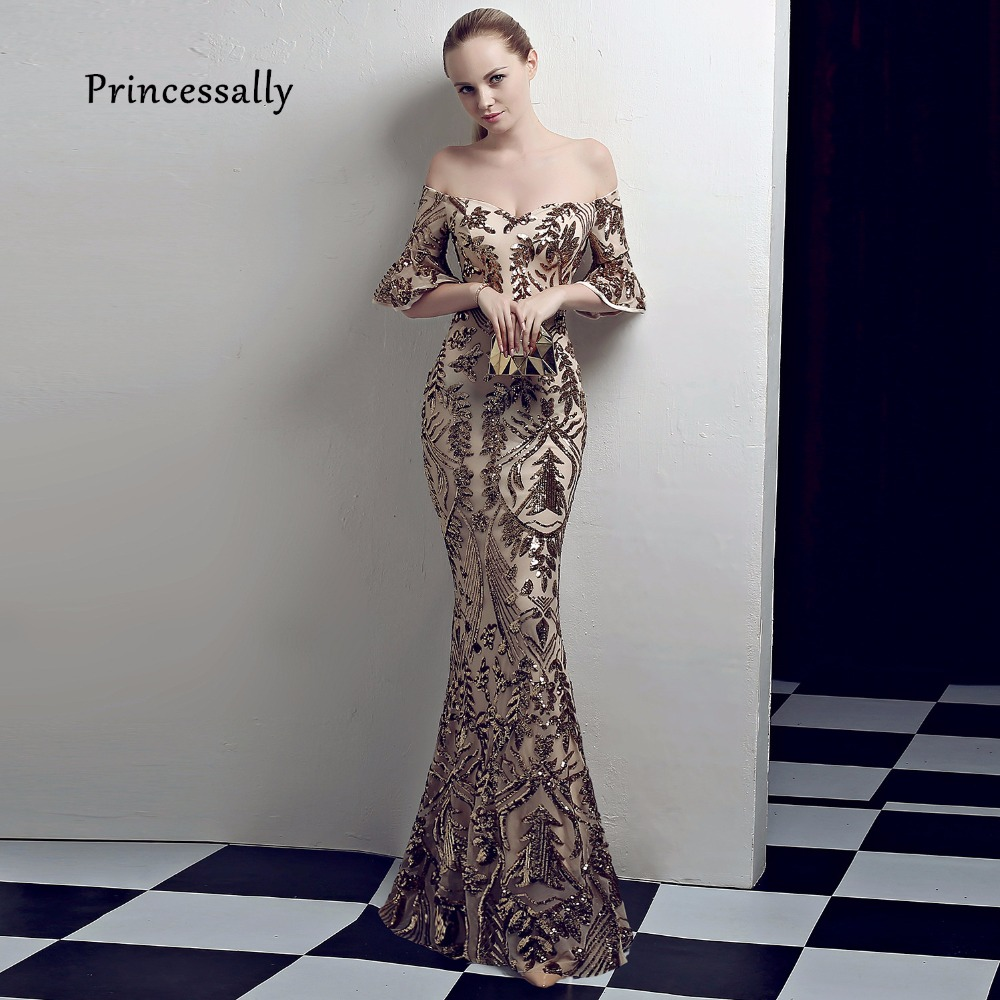 Detail Feedback Questions about New Elegant Sequined Mermaid Evening Gown  Slim Sexy V neck Color Fade Formal Women Dress For Wedding Party Robe De  Soriee ... 60e408f222c1