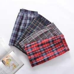 Клетчатая юбка для девочек, красное клетчатое платье, плиссированная юбка, шотландская форма