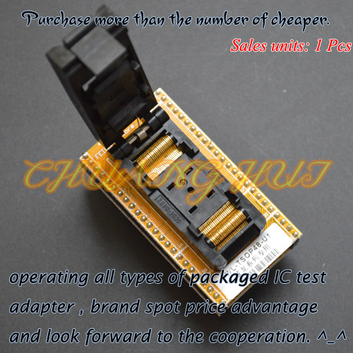 Clamshell TSOP48 to DIP48 Programmer Adapter WL-TSOP48-U1 WL-TSOP48-U2 Adapter/test socket 20pcs lot k9gag08uoe scbo k9gag08uoe tsop48