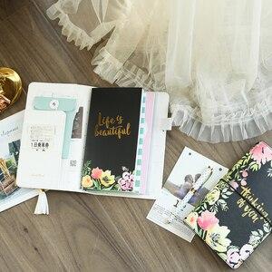 Image 4 - Lovedoki 花革カバー旅行者のノートブック標準ジャーナル日本 2019 プランナースケッチブック学校のノートブック文房具