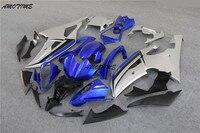 Мотоциклы впрыска Обтекатели для 08 09, 10, 11, 12, 13 лет, серебряный цвет синий, черный; Большие размеры 34–43 Yamaha R6 Обтекатели горячая Распродажа 2008