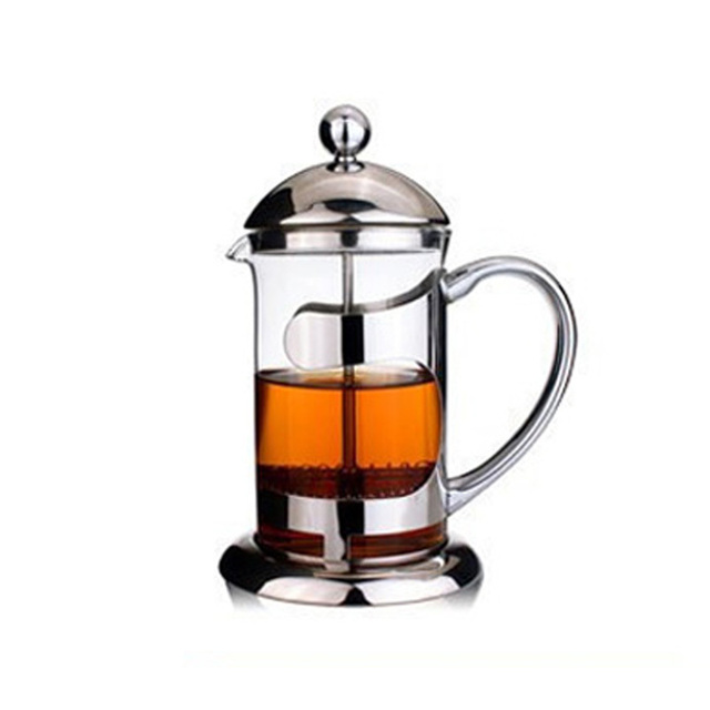 Multifunctional French Press Teapot 304 Stainless Steel Gl Coffee Air Scented Tea Milk
