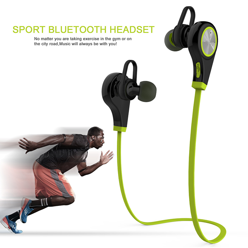 Q9 Sports Bluetooth Headsets CSR4.1 Wireless Headphones In-ear Stereo Earphone Hands-free with Mic for iPhone Android Smartphone