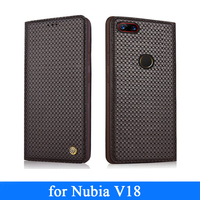 Nubia V18 Case Genuine Leather Cover Cases for Coque Nubia V18 Custom Handmade Luxury Phone Skin Fashion Shell Full Protection