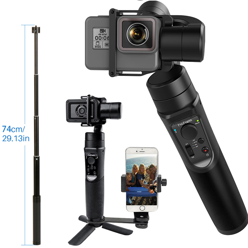 for GoPro Gimbal Hohem iSteady Pro 3-Axis Handheld Stabilizer Time-Lapse Tracking for Gopro Hero 7/6/5 PK for DJI Osmo Pocket