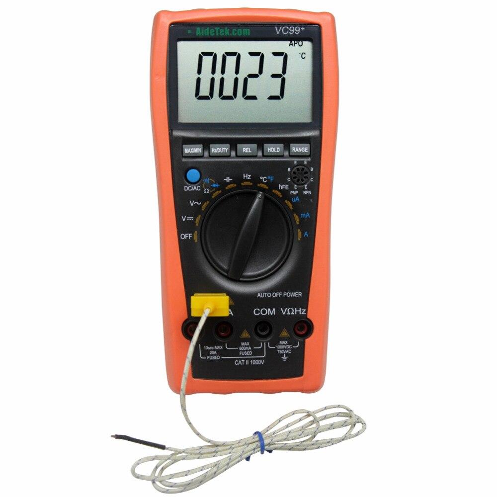 AideTek Új VC99 + automatikus tartományú multiméter teszter - Mérőműszerek - Fénykép 5