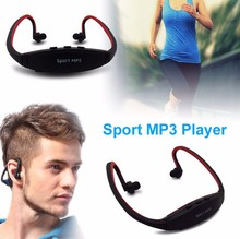 2015 Portable Wireless Sport MP3 Player with Stereo Headphones Earphones Headset Music Player with Micro TF Card Slot FM Radio