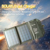 Solar Charger 5V10W Outdoor Sunpower Foldable Mobile Charger For IPhone IPad HTC SAMSUNG For Camping Climbing