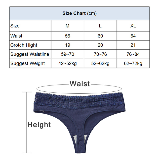 Women's Cotton Seamless G String Panties