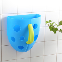 New Funny Security Plastic Baby Kids Bath Toys Organizer Scoop Storage Bin Toddler Toy Tub Hanging Basket TB Sale