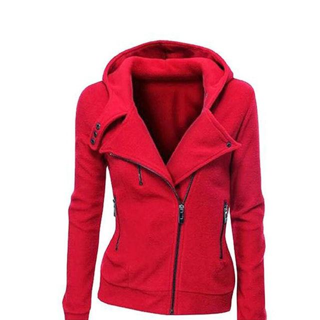Warm Jumper Coat Winter Women Slim Fit Sweater Hoodie Stylish Zip ...