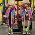 Леггинсы 2016 Женщины Моды Цветочный Принт Леггинсы Брюки Quick Dry Leging Feminino Ropa Mujer Jeggings Y25068