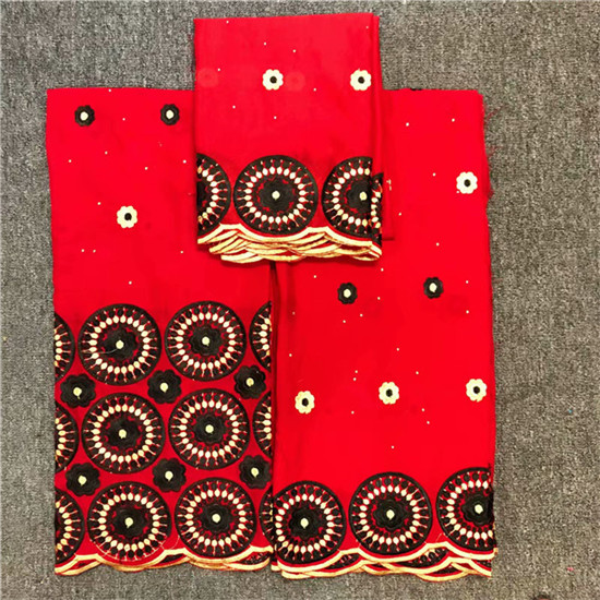 3PCS/set Latest apparel cloth African cotton embroidery lace fabric Swiss voile lace fabric for party NCS41(2.5y+2.5y+2y)