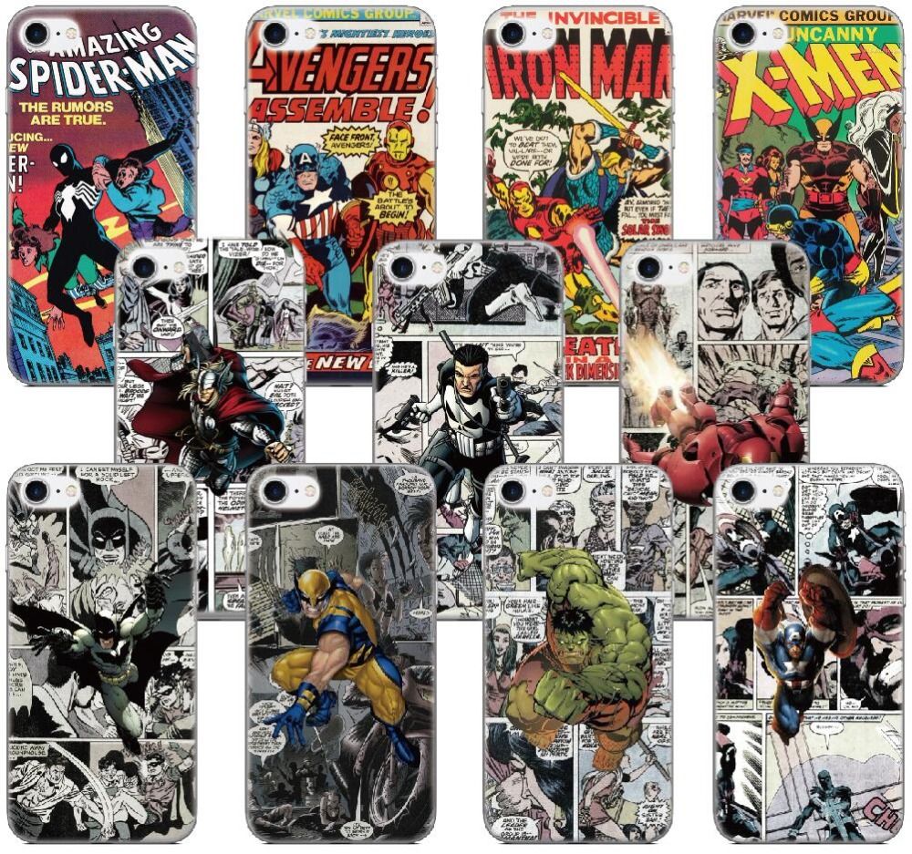 Marvel Comics Hero Cover For Sony Xperia L1 X XA XZ Z1 Z2 Z3 Z5 XZ1 Compact Mini M C1904 ...