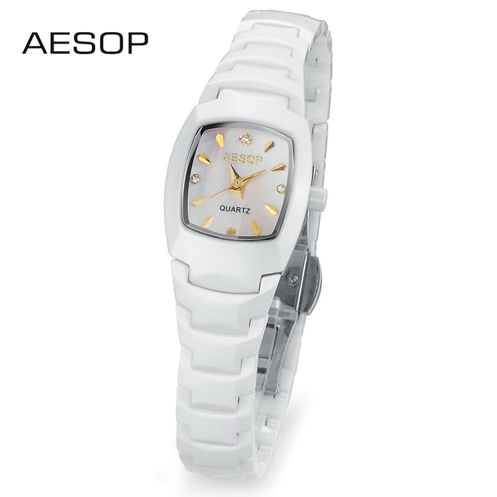 Aesop Famous Brand Watch Couple Ceramic Black Quartz Watches Swiss Movement Sapphire Luxury Military Wristwatch Gift For Mens