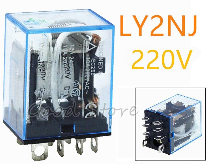 Купить 1 шт ly2nj 220 в переменного тока катушка постоянного 10 а 240