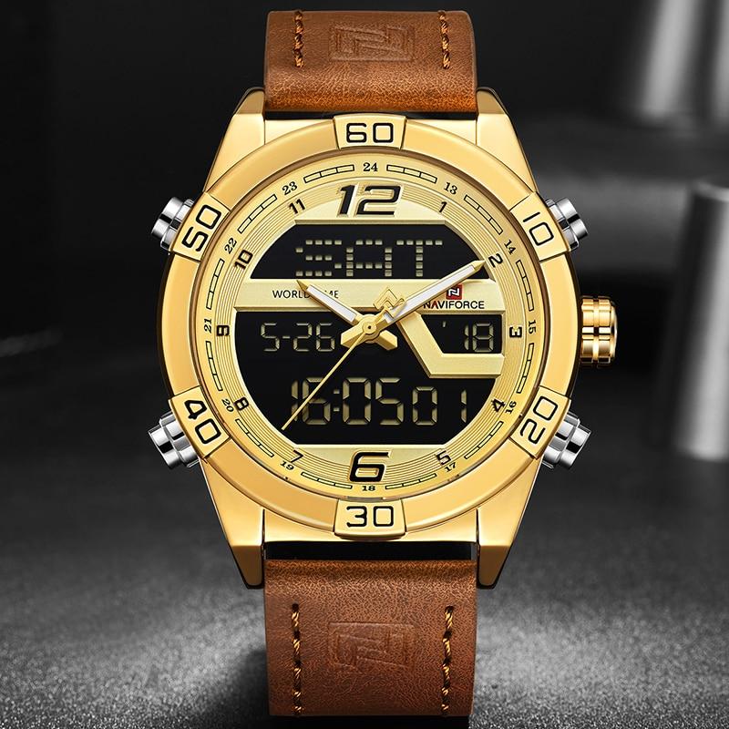NAVIFORCE 2018 New Luxury Brand Men Military Sport Watches Men's Waterproof Quartz Wrist Watch