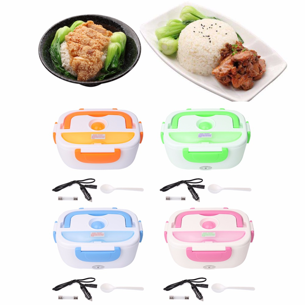 Portable 12V Car Electric Heating Lunch Box Rice Cooker Food Warmer 1.05L 40W qotom mini itx motherboard with celeron n3150 processor quad core up to 2 08 ghz 2 lan 2 display port fanless motherboard page 1