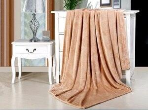 Image 3 - CAMMITEVER Home Textile Sofa Bedding Fleece Blanket Summer Solid Color Blankets Super Soft Warm Flannel Throw On Sofa/Bed/Travel
