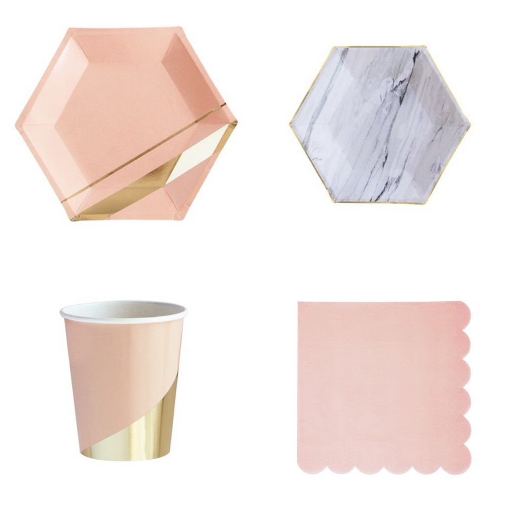 Aliexpress.com : Buy 8 Sets Party Paper Dinner Tableware ...