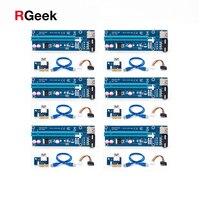6pcs Blue PCE164P NO3 VER006 0 6M PCIe PCI E 1X To 16X Riser Card Extender
