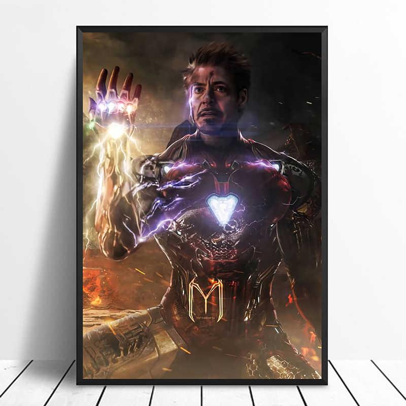 Avengers końcówki Iron Man bez krawędzi rękawica film plakat do dekoracji domu dekoracje ścienne Wall Art Cnavas drukuj bez ramki