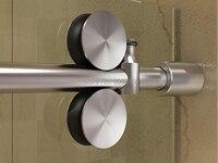 DIYHD 152 см/200 см из нержавеющей стали для душевой двери раздвижные рельсы оборудование бескаркасные выдвижные душевые двери аксессуары для ст