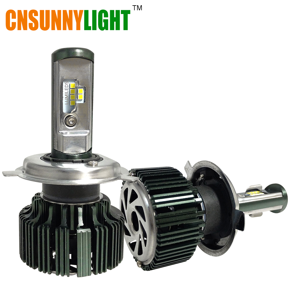 CNSUNNYLIGHT CSP LED H4 H7 H11 H13 H1 9005 9006 9004 9007 H3 HB3 HB4 80W 8000lm Car LED Headlights Bulb Fog Light 6000K 12V 24V