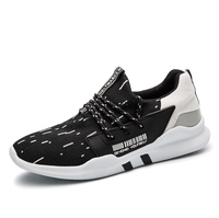 2017 New Men Sport Sneakers Brand Spring Autumn Athletic Footwear Lace Up Runners Sneakers Gray Black