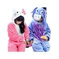 cute kids one-piece pajamas cute hello kitty donkey robe sleepwear for 3-10yrs children boys girls onesie pajamas night clothes