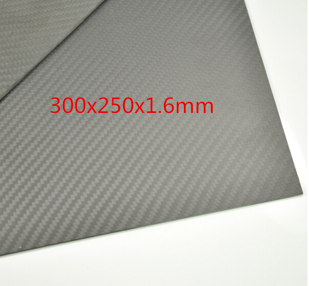 1pcs 3K 100% Carbon Fiber Matte Surface Sheet Plate 300x250x1.6mm 1 5mm x 600mm x 600mm 100% carbon fiber plate carbon fiber sheet carbon fiber panel matte surface